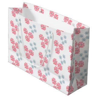 Bolsa De Regalo Grande Bolso floral del rosa y del regalo de la falta de
