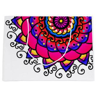 Bolsa De Regalo Grande Bolso grande del regalo del arte púrpura rosado
