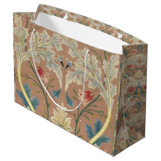 Bolsa De Regalo Grande Bordado de flores 1875 de William Morris del