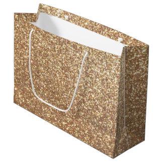 Bolsa De Regalo Grande Brillo metálico del oro color de rosa de cobre