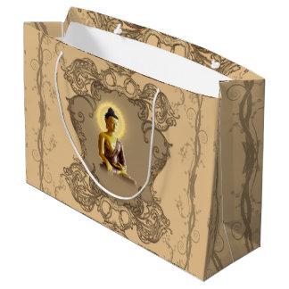 Bolsa De Regalo Grande Buda con la luz mística y los elementos florales