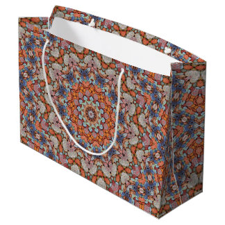 Bolsa De Regalo Grande Caleidoscopio rocoso l bolsos   del vintage de los
