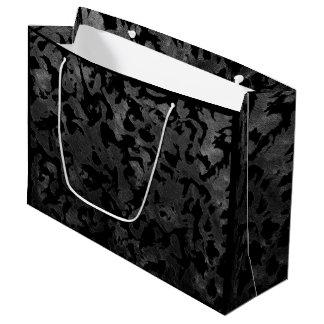Bolsa De Regalo Grande Camuflaje gris negro y oscuro de Camo moderno -