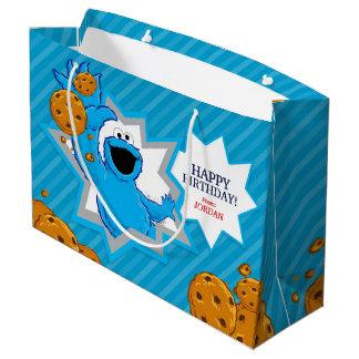 Bolsa De Regalo Grande Cumpleaños del monstruo de la galleta