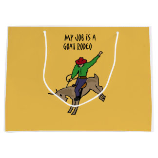 Bolsa De Regalo Grande Dibujo animado divertido del humor del trabajo del