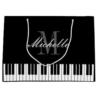 Bolsa De Regalo Grande El piano elegante cierra bolsos del regalo de