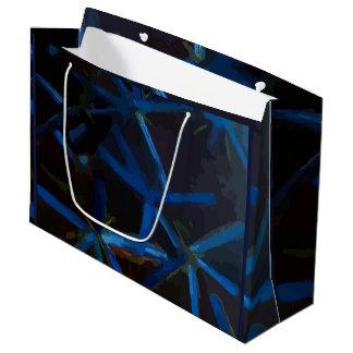 Bolsa De Regalo Grande Estrellas azules cristalinas