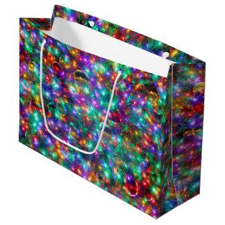 Bolsa De Regalo Grande Estrellas chispeantes del navidad de lujo