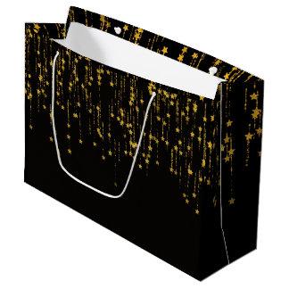 Bolsa De Regalo Grande Estrellas de oro