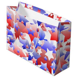 Bolsa De Regalo Grande Estrellas patrióticas