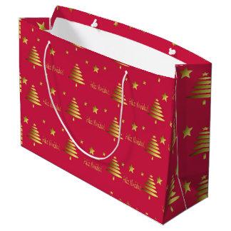 Bolsa De Regalo Grande Feliz Navidad