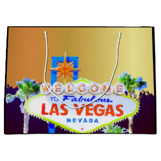 Bolsa De Regalo Grande Fiesta de Bachelorette del oro de Las Vegas