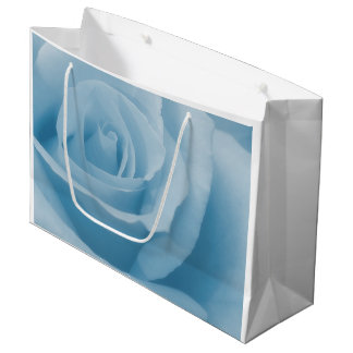 Bolsa De Regalo Grande Flor color de rosa azul
