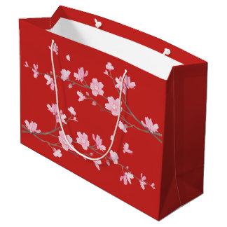 Bolsa De Regalo Grande Flor de cerezo - rojo