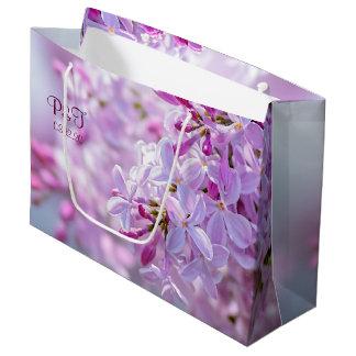 Bolsa De Regalo Grande Flores rosadas de la lila