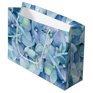 Bolsa De Regalo Grande Hydrangea azul