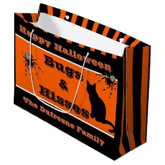 """Bolsa De Regalo Grande """"Insectos y silbidos"""" Halloween personalizado"""