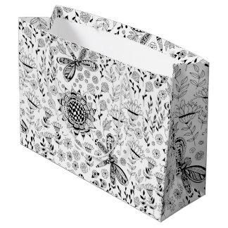 Bolsa De Regalo Grande Libélulas y flores