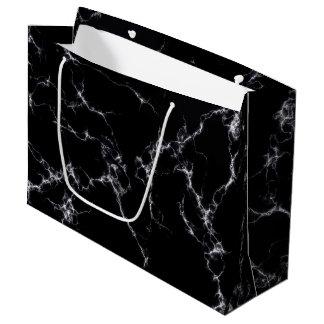 Bolsa De Regalo Grande Mármol elegante style4 - blanco y negro