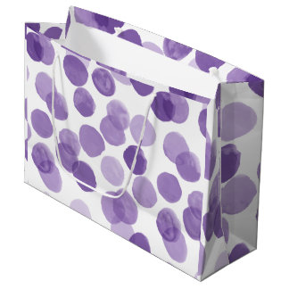 Bolsa De Regalo Grande Modelo de puntos púrpura grande