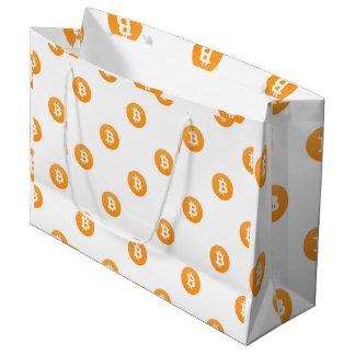 Bolsa De Regalo Grande Modelo del logotipo de Bitcoin