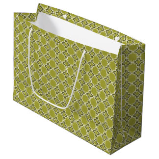 Bolsa De Regalo Grande Modelo marroquí del enrejado de la verde lima