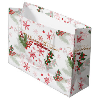 Bolsa De Regalo Grande Navidad elegante