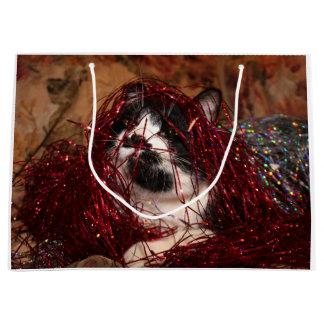 Bolsa De Regalo Grande Navidad travieso del gatito del smoking