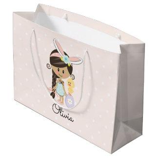 Bolsa De Regalo Grande Oscuridad personalizada de la venda del conejito