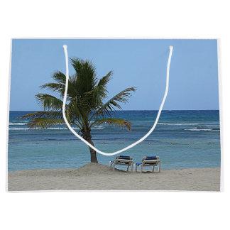 Bolsa De Regalo Grande Palmera en la playa