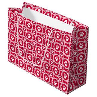 Bolsa De Regalo Grande Pata-para-Dando el bolso del regalo (rojo)