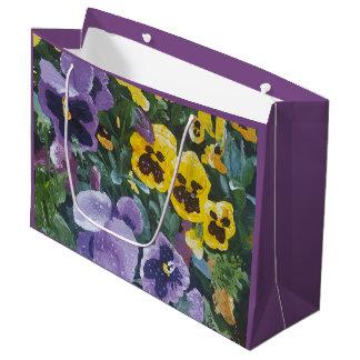 Bolsa De Regalo Grande Pensamiento floral Giftbag