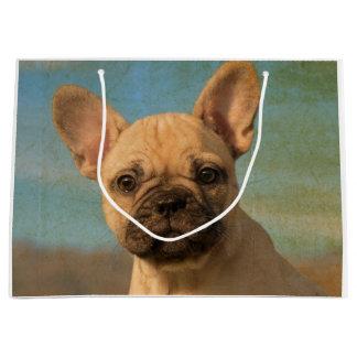 Bolsa De Regalo Grande Perrito lindo del dogo francés - foto divertida de