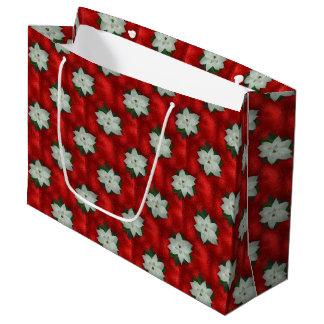 Bolsa De Regalo Grande Poinsettia del navidad
