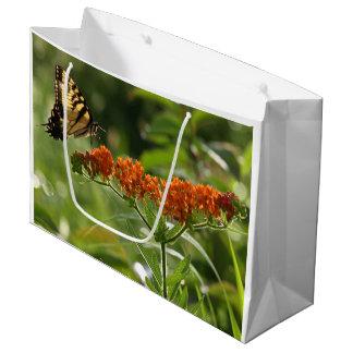 Bolsa De Regalo Grande Primer grande, bolso brillante de la mariposa del