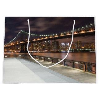 Bolsa De Regalo Grande Puente de Manhattan y horizonte de NYC