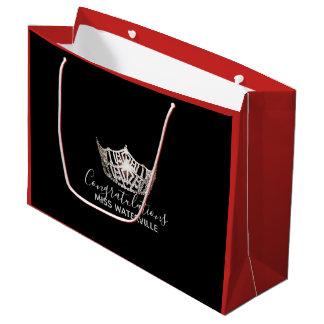 Bolsa De Regalo Grande Regalo rojo de la corona de plata de Srta. América