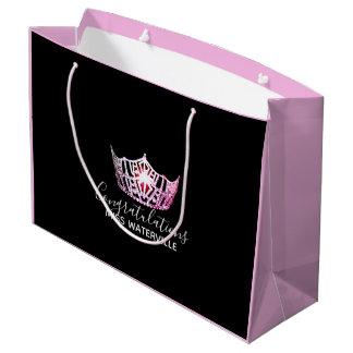 Bolsa De Regalo Grande Regalo rosado del rosa del 2-Tono de la corona de
