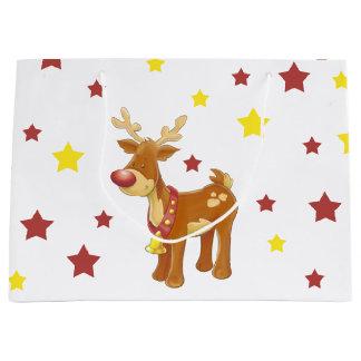 Bolsa De Regalo Grande Rudolph las estrellas sospechadas rojas del