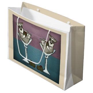 Bolsa De Regalo Grande Schnauzer Martini el bolso doble del regalo del