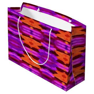 Bolsa De Regalo Grande Tapicería del bolso púrpura y anaranjado del