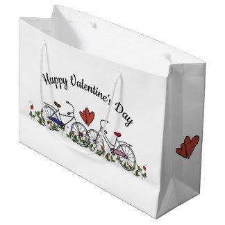 Bolsa De Regalo Grande Tarjeta del día de San Valentín de los amantes de