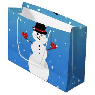Bolsa De Regalo Grande Te amo más muñeco de nieve