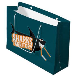 Bolsa De Regalo Grande Territorio de los tiburones - bolso grande del