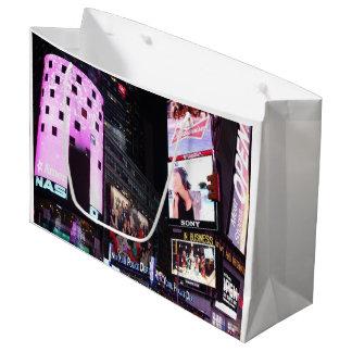 Bolsa De Regalo Grande Times Square en New York City (rosa)
