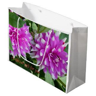 Bolsa De Regalo Grande Un bolso especial del regalo de la flor para un