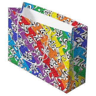 Bolsa De Regalo Grande Un extracto colorido