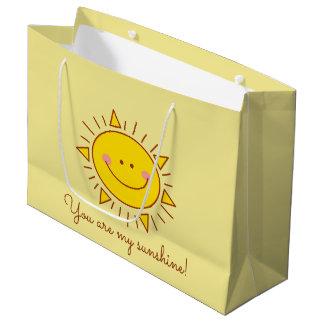 Bolsa De Regalo Grande Usted es mi día soleado sonriente lindo feliz de