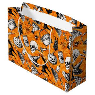 Bolsa De Regalo Grande Vintage Halloween