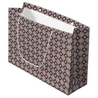 Bolsa De Regalo Grande Violet Kaleidoscope Pattern